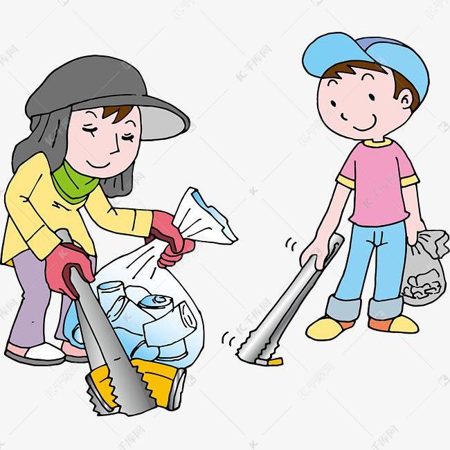 清洁垃圾的社区活动图片