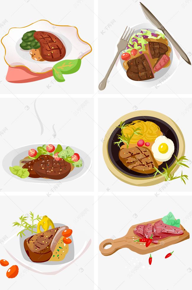特色美味美食牛排手绘插画素材图片免费下载 千库网