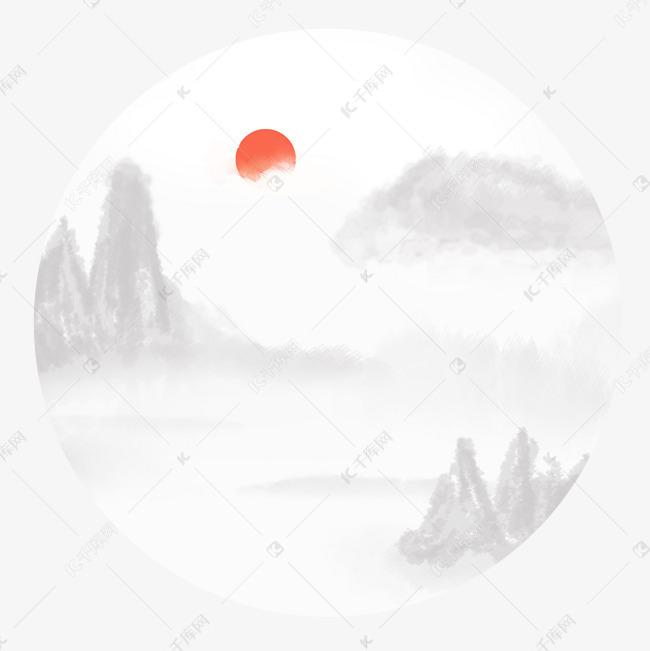 手绘古风江南水墨风景素材图片免费下载 千库网