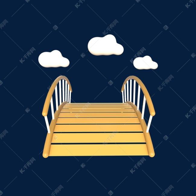C4D立体情人节鹊桥相会卡通桥装饰元素素材图片免费下载 高清psd 千库网 图片编号11638439图片