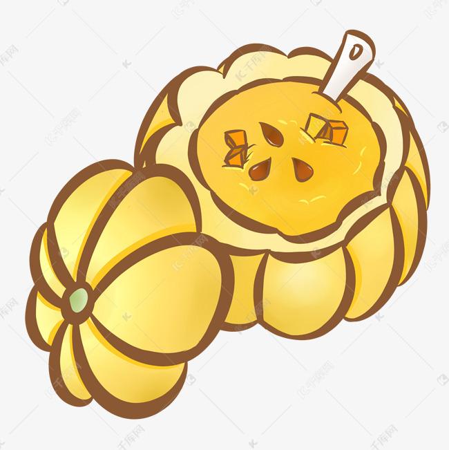 手绘美食美味南瓜盅素材图片免费下载 高清psd 千库网 图片编号11393189