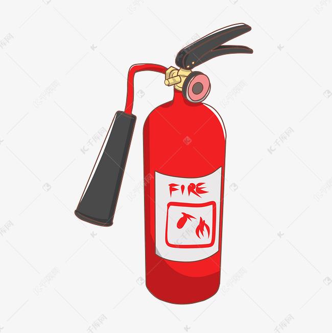 消防工具灭火器插画