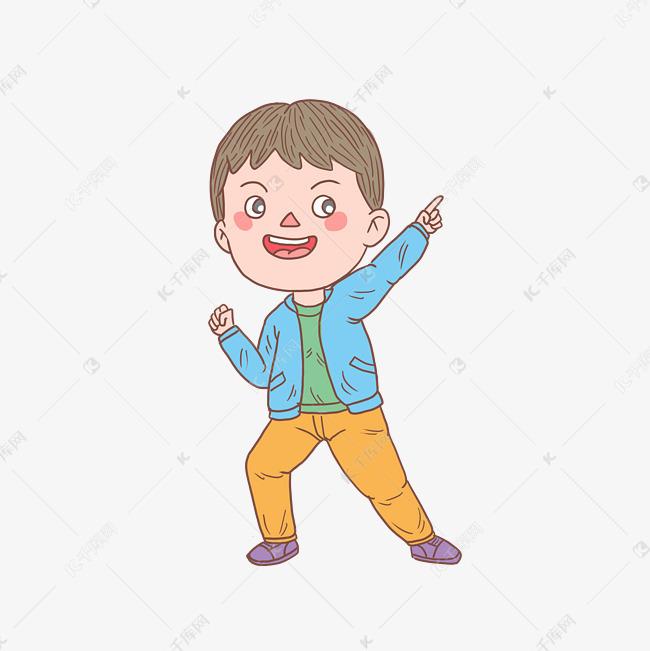 卡通手绘人物自信少年素材图片免费下载 高清psd 千库网 图片编号11493690