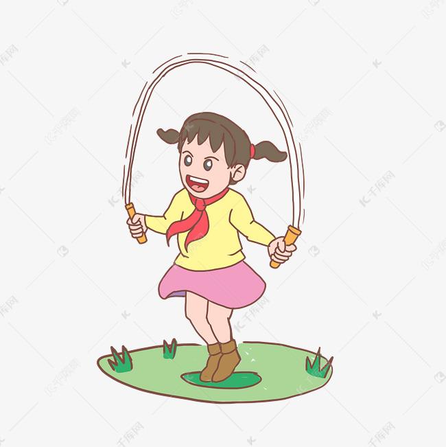 手绘季小学生开学答案跳绳v答案数学卡通总小学图片