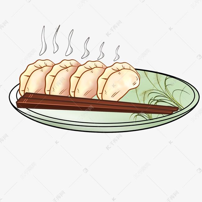 卡通手绘美味饺子美食插画素材图片免费下载 高清psd 千库网 图片编号11445692