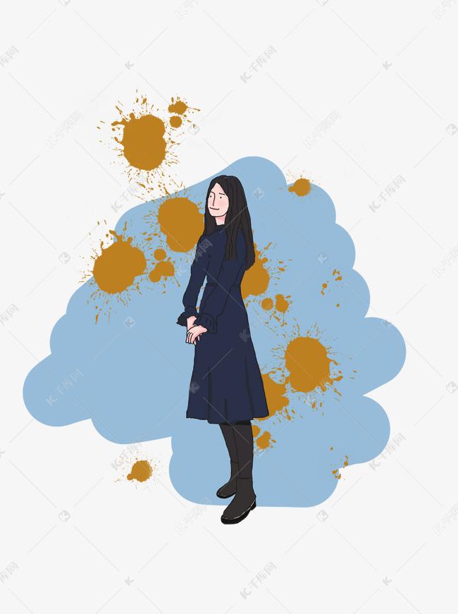各行各业人物手绘女生静好人物插画女生图片岁月机小机图片