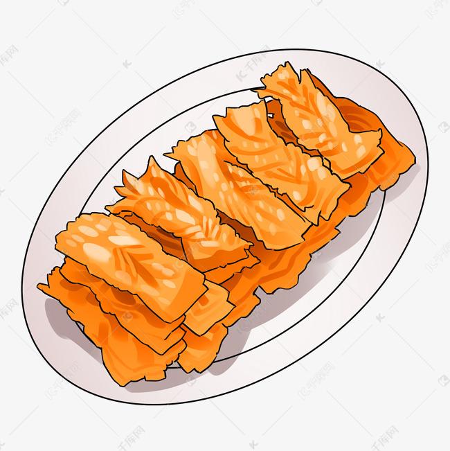 卡通手绘油炸新年美食素材图片免费下载 千库网