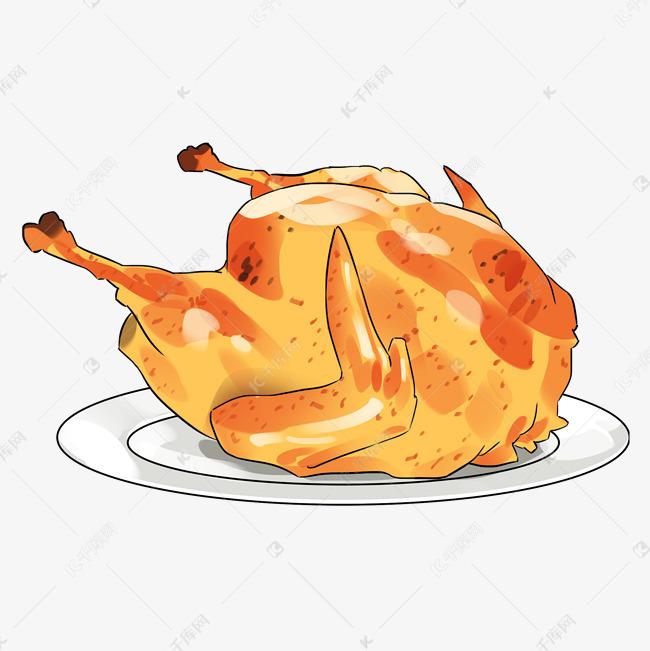 卡通手绘新年美食素材图片免费下载 千库网