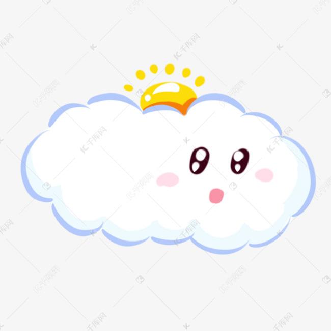 卡通简笔画白云手绘可爱卡通云朵