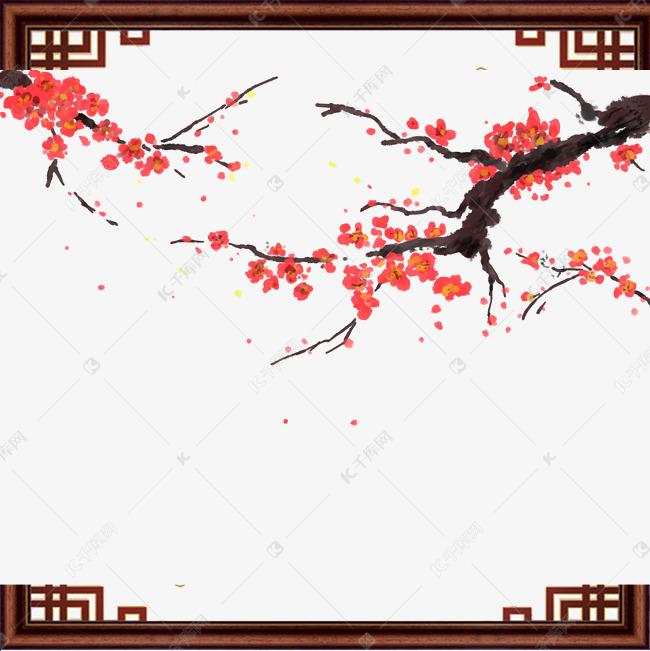 冬天腊梅红色古风免抠素材图片免费下载 千库网