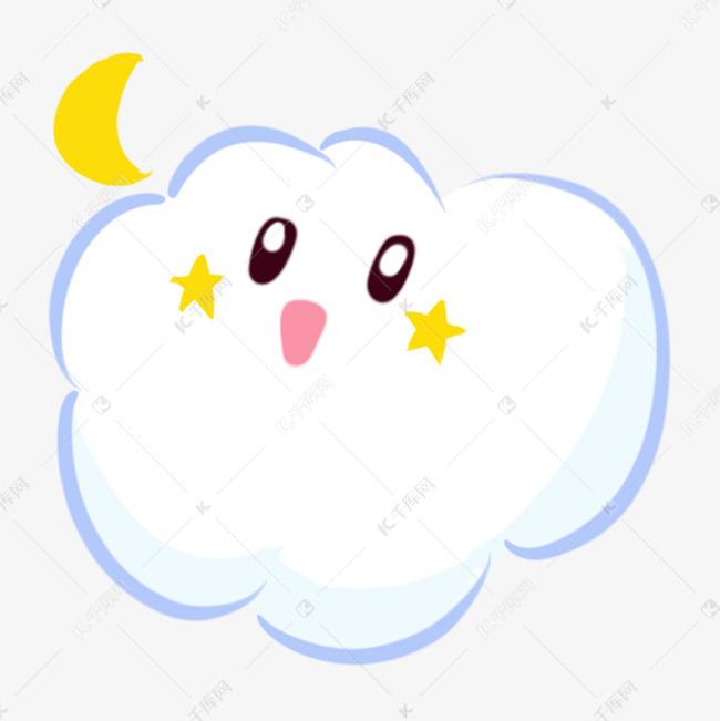卡通简笔画白云手绘可爱卡通云朵素材图片免费下载 千库网