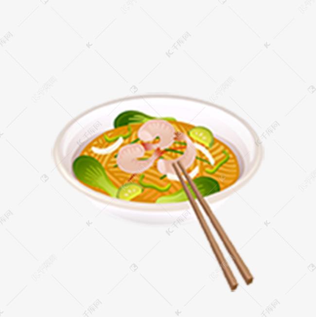 卡通手绘海鲜米线素材图片免费下载 高清png 千库网 图片编号9960537