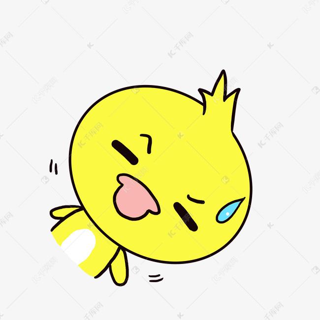 Q版可爱表情歪头小鸭子动态小表情无语3d娃娃图肚兜动物卡通包