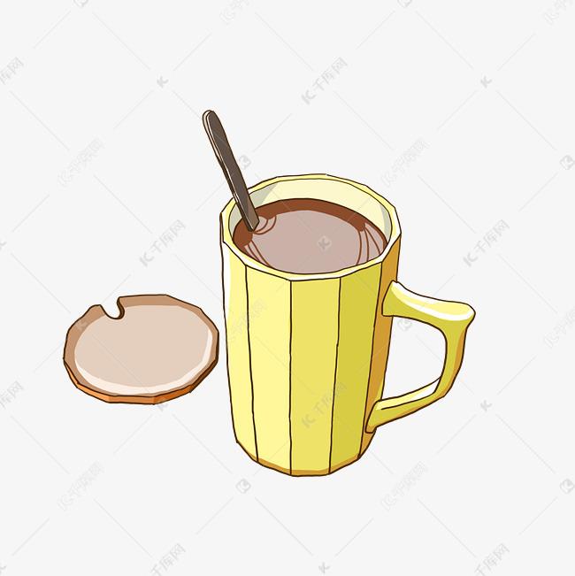 咖啡杯子手绘小清新简笔画素材图片免费下载 千库网
