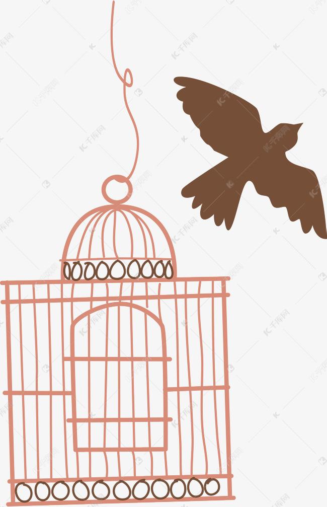 手绘鸟笼白色鸟笼素材图片免费下载 高清psd 千库网 图片编号9574682