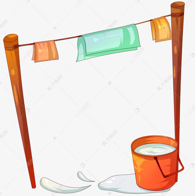 手绘洗衣边框素材图片免费下载 千库网