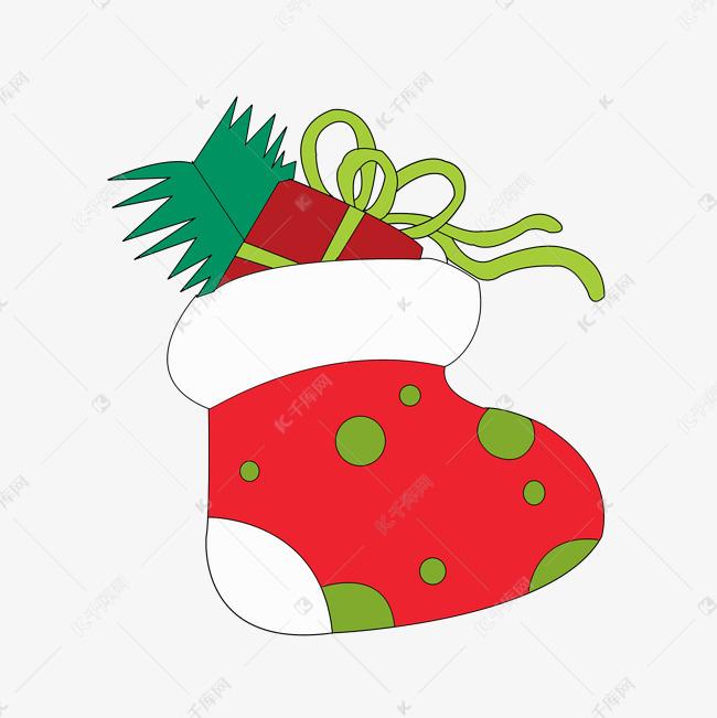 卡通简笔画圣诞袜子PNG素材图片免费下载 千库网