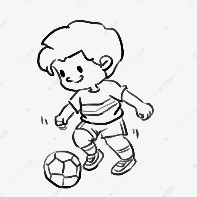 卡通手绘夏日运动小朋友漫画线稿素材图片免费下载 高清psd 千库网 图片编号10487890