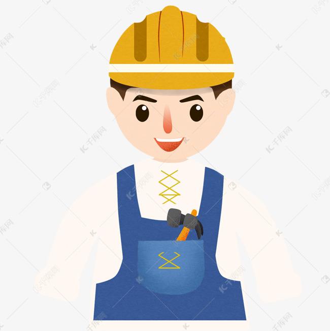 建筑工人卡通图案素材图片免费下载 千库网