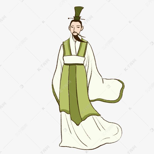 端午节粽子节手绘卡通屈原人物元素下载素材图片免费下载 高清psd 千库网 图片编号10673218