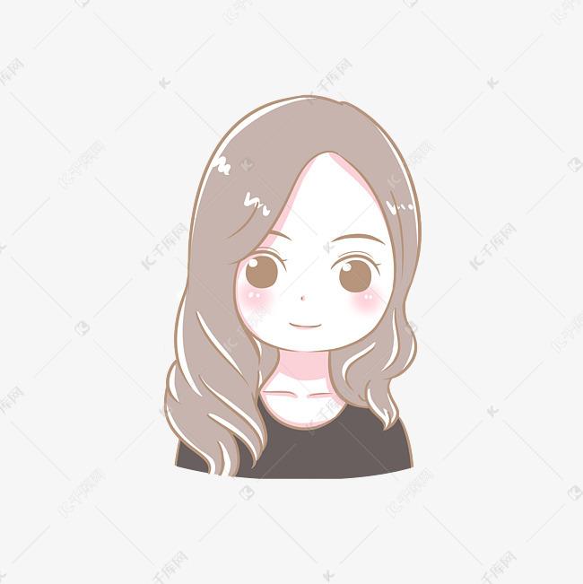 女生可爱卡通小a女生人物少女方脸短发发型头像图片