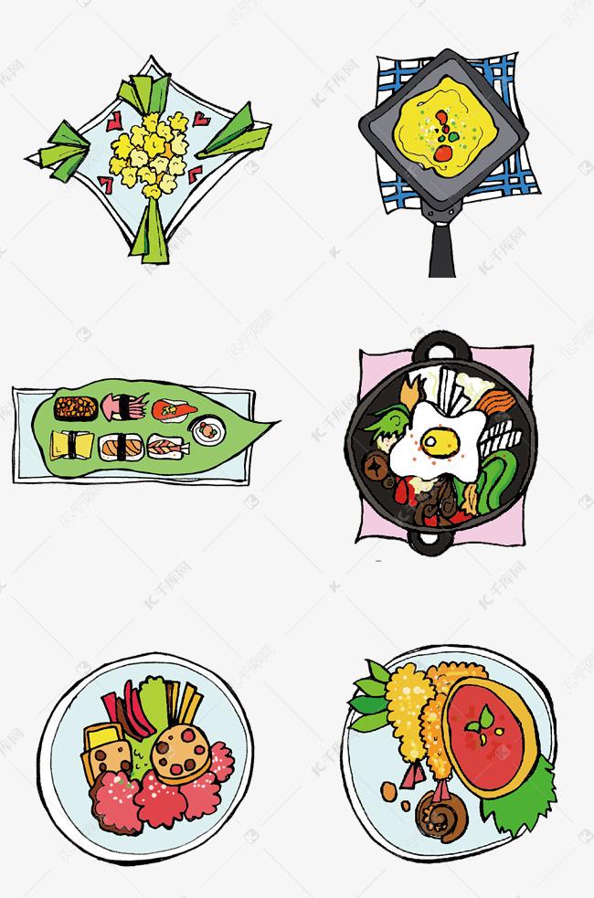 春节圣诞元旦手绘美食素材图片免费下载 千库网