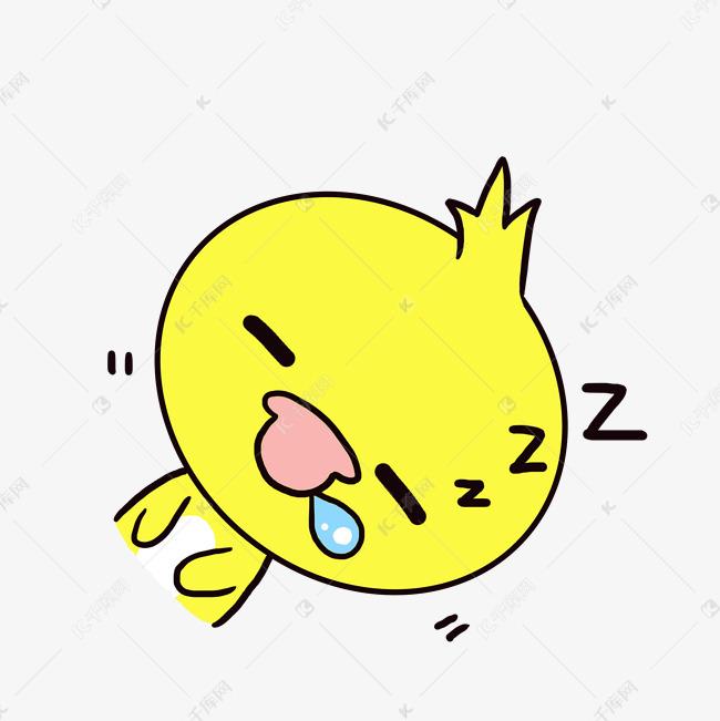 Q版可爱卡通睡觉小表情动漫小表情歪头无语的鸭子萌图片动物图片