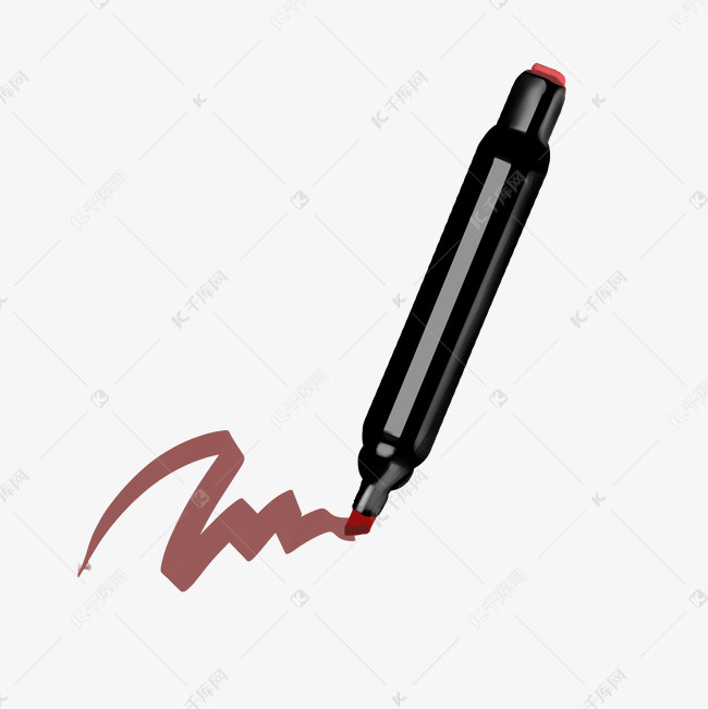 手绘黑色马克笔插画素材图片免费下载 高清psd 千库网 图片编号11840510