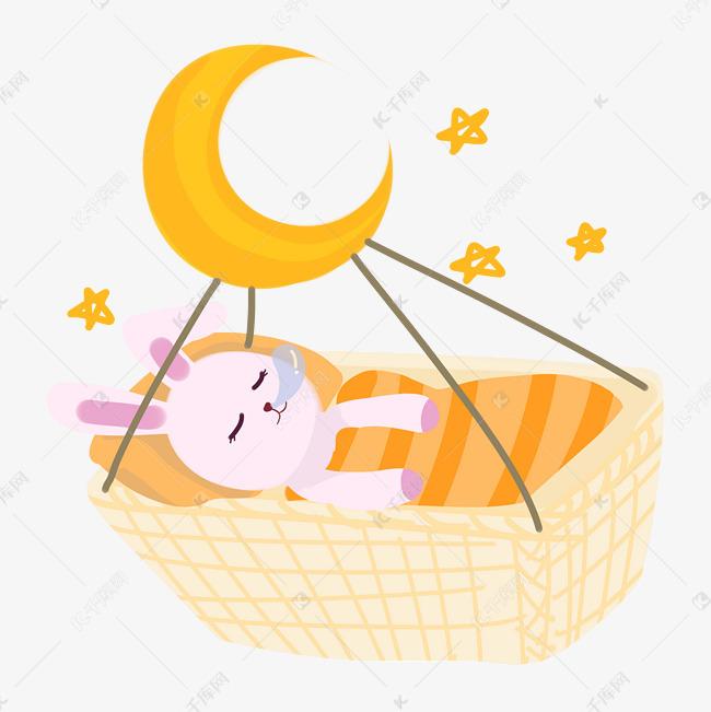 世界睡眠日卡通兔子睡觉PNG素材图片免费下载 千库网