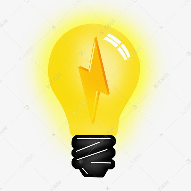 卡通发光黄色灯泡素材图片免费下载 千库网图片