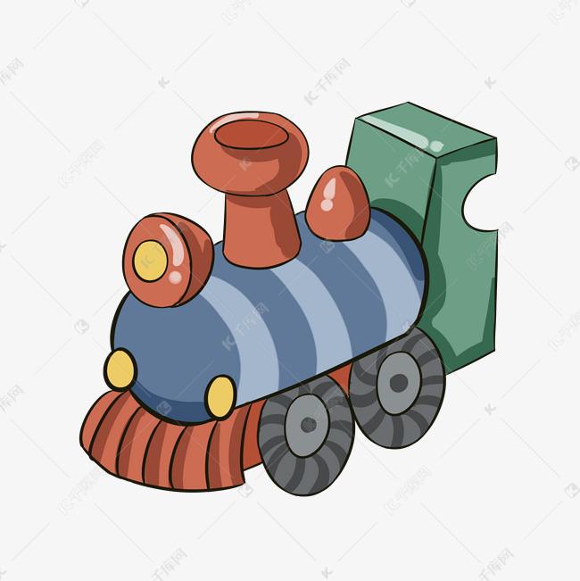 手绘儿童玩具小火车插画素材图片免费下载 高清psd 千库网 图片编号10679477