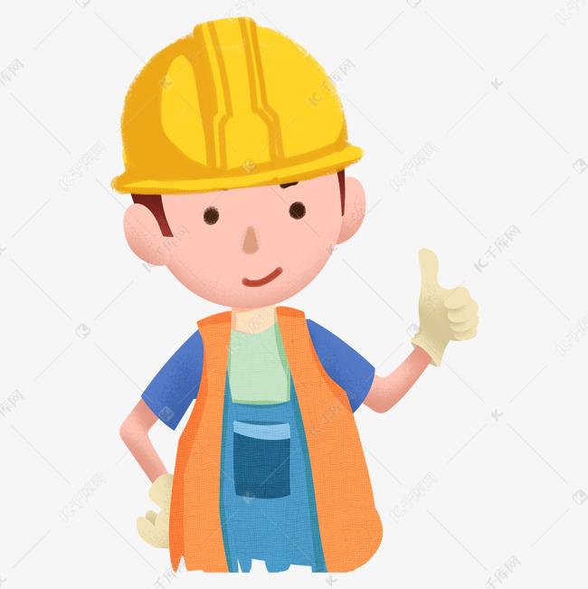 建筑工人卡通装饰素材图片免费下载 千库网