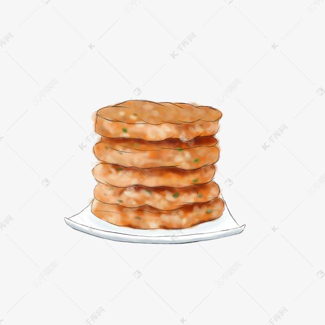 手绘餐桌美食炸饼素材图片免费下载 高清psd 千库网 图片编号9766457