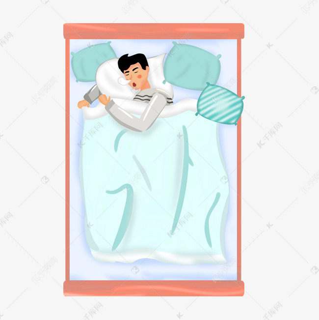 世界睡眠日呼呼大睡的人物图片
