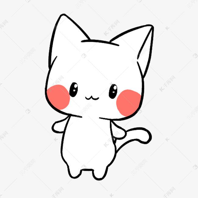 手绘卡通可爱萌宠动物表情包通用实用猫咪白猫