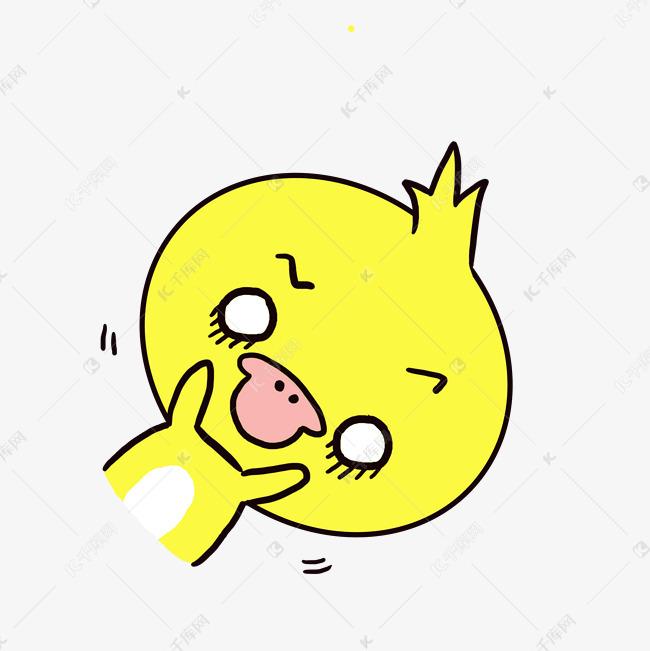 Q版可爱白眼歪头小表情表情小卡通动物鸭子包可爱qq涂鸦画图片