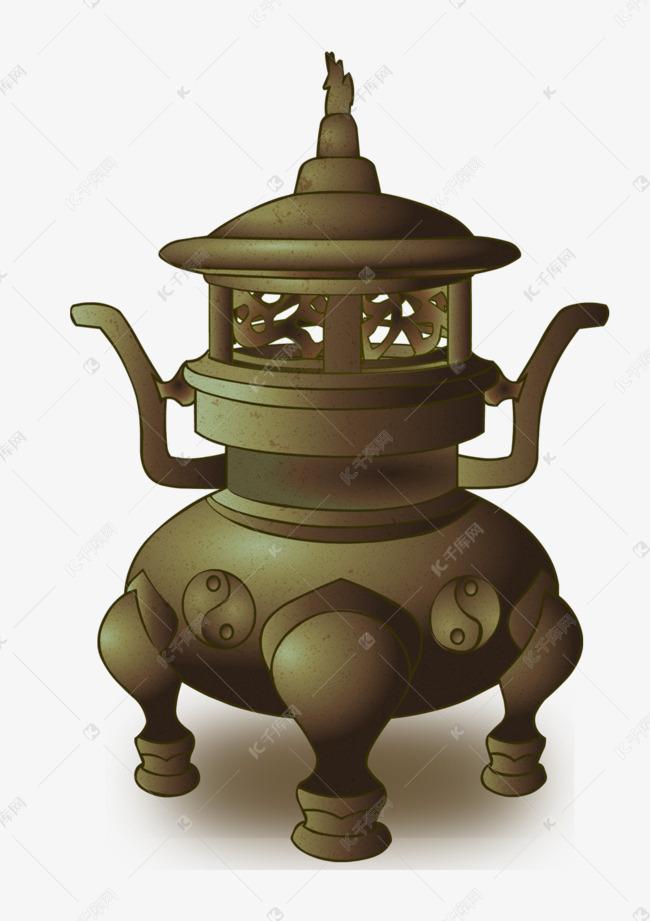 卡通寺庙香炉设计素材图片免费下载 千库网