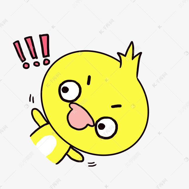 Q版搞笑卡通歪头小动物大全小表情惊讶鸭子可爱图片包表情不屑的图片