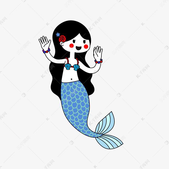 手绘可爱海底美人鱼