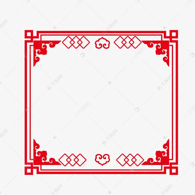 矢量手绘古风边框素材图片免费下载 千库网