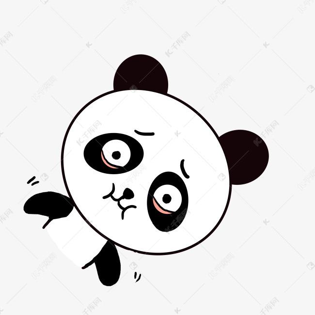 Q版可爱表情歪头小表情动态小熊猫a表情想吐这逼装的好动物卡通包图片
