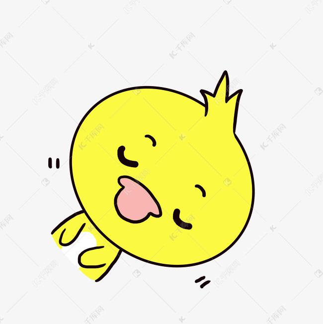 Q版搞笑动物歪头小表情鸭子小母亲v动物可爱卡通老信微图图片