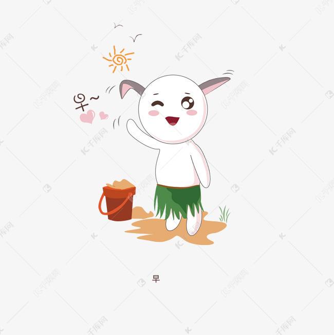 早手绘兔子卡通可爱表情人表情包星喵萌哒萌图片