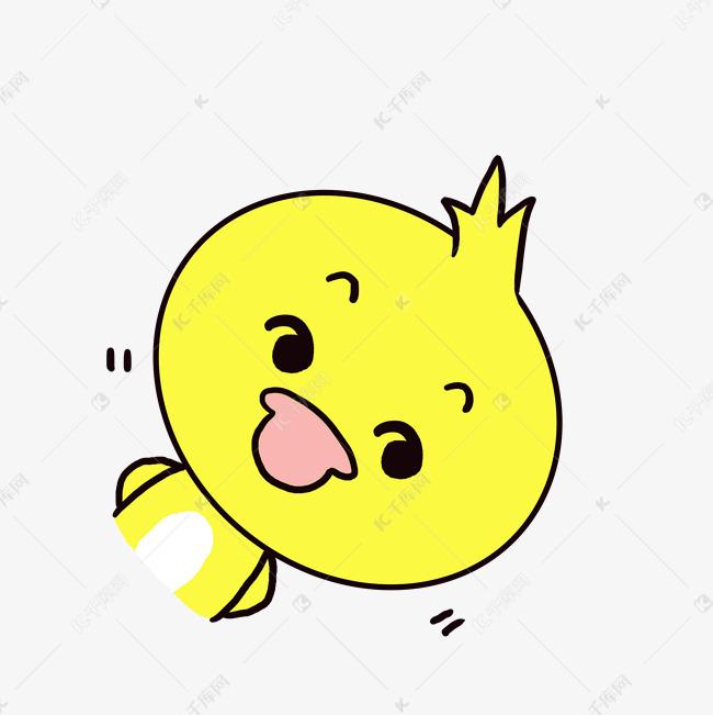 Q版可爱表情偷看小卡通鸭子小动物歪头粘贴表情图怎么弄的图片