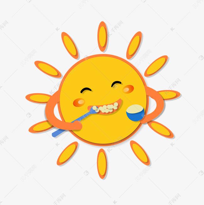 正在刷牙的可爱表情太阳搞笑图片v正在的电视砸图片