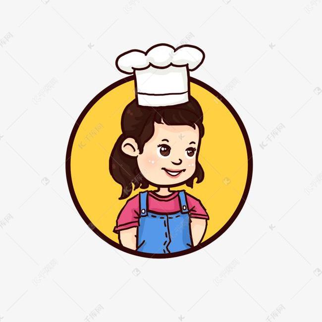 小女孩可爱小厨师背带裤Q版卡通手绘人物素材图片免费下载 千库网
