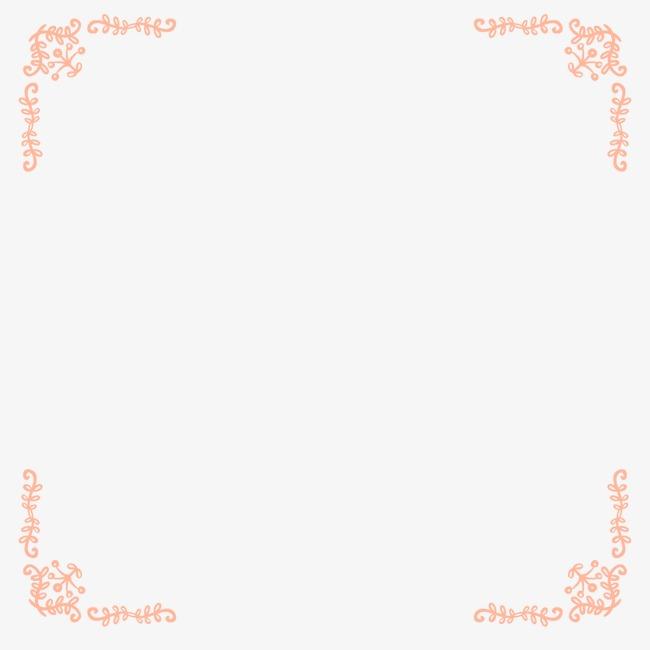 手绘花纹 四角纹 角花