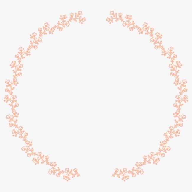 手绘花纹 花环