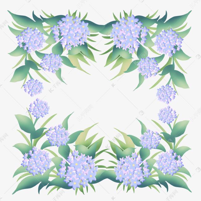 花环绣球花绿叶蓝色素材图片免费下载_高清p百雀羚面膜包装设计图片