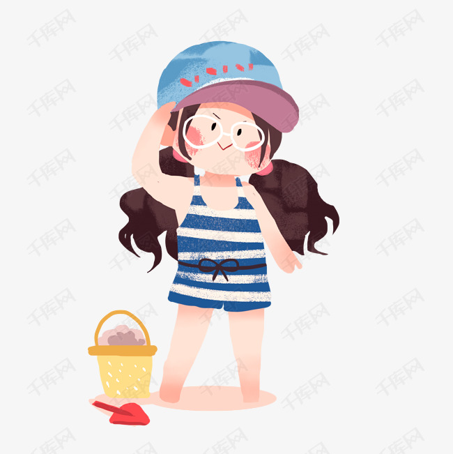 海滩在海边玩沙的泳装性感png夏日丝袜下载女孩3图片